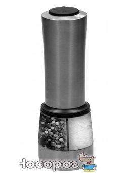 Мельница электрическая для соли и перца Lessner двухкамерная 20 см (10108)