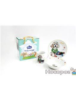 Детский набор столовой посуды для завтрака Milika Happy 3пр (M0690-TH5778)