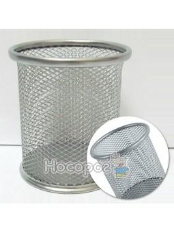 """Стакан металевий для письмового приладдя """"сіточка"""", сірий 8021-S"""