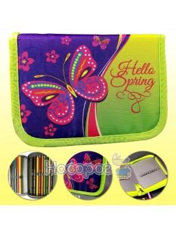"""Пенал текстильний, 20*13,5*3 см, """"Привіт весна"""", Leader 930420"""