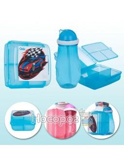 Набір дитячий пластиковий Qlux ланч-бокс, пляшка MIX (L-00703)