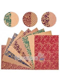 Картон цветной Поділля, 9 листов, А4, дизайнерский