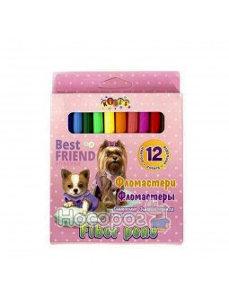 Фломастери Kidis 13313 Best Friend 12 кольорів в карт. коробці (240)
