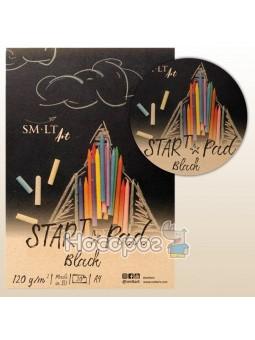 Склейка для рисунка STAR T А4 SMILTAINIS чорная бумага