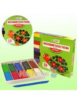 Пластилін Гамма восковий 10 кольорів