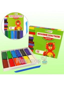 Пластилін Гамма восковий 12 кольорів