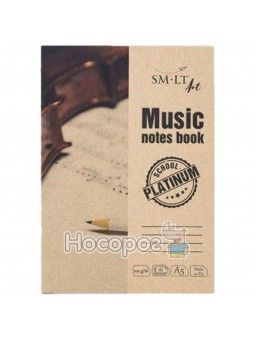 Альбом для нот Platinum, Music notes book А5