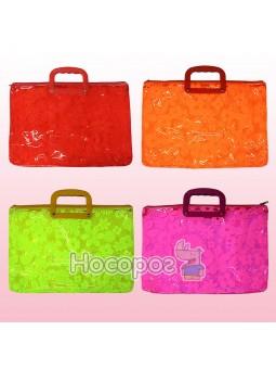 Портфель пластиковый 210821 38*28*4,5 см полупрозрачный