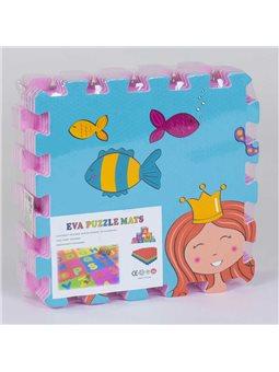 Килимок-пазл ігровий EVA Русалочка З 36628 (20) 9 шт в упаковці, 30х30 см