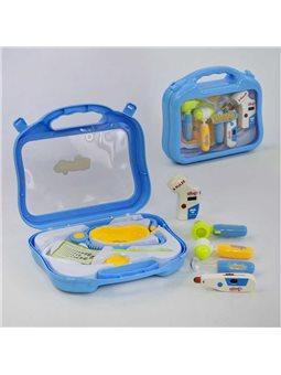 Набір доктора 660-20 (48/2) 10 предметів, інструменти з підсвічуванням, в валізі