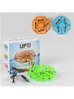 Летающая тарелка DM 101 (60) СЕНСОРНОЕ УПРАВЛЕНИЕ (приводится в движение и управляется рукой), подсветка, 3 цвета, в коробке