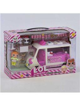 Набор с куклой К 5622 (24) Передвижная закусочная, 2 куклы, аксессуары, в коробке