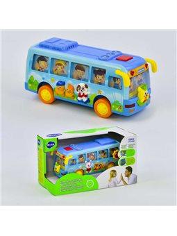 Музыкальная игрушка Автобус 908 (24/2) песня на англ. языке, подсветка фар, в коробке