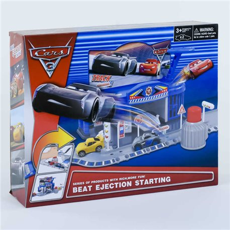 Фото Автотрек НТ 622 Q (24) 2 этажа, запускной механизм, 2 машинки, в коробке