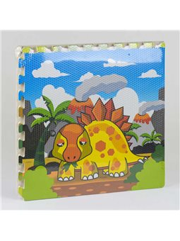 Килимок-пазл ігровий EVA Динозаври З 36570 (12) 4 шт в упаковці, 60х60 см