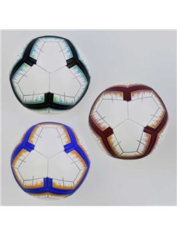 Мяч футбольный С 34408 (60) 3 цвета, 400 грамм, материал - TPU