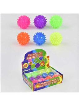 М'яч-стрибун З 23245 (24) / ЦІНА ЗА БЛОК / 12шт в блоці, СВІТЛО, діаметр 6 см