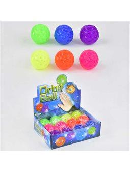 М'яч-стрибун З 23243 (24) / ЦІНА ЗА БЛОК / 12шт в блоці, СВІТЛО, діаметр 6 см