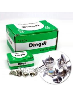 Кнопки канцелярские Dingdi 320275 серебряные