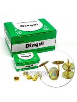Кнопки канцелярські Dingdi 320276 золоті