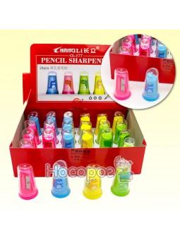 Точилка 345615 кольорова пластикова