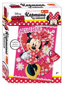 """Картинка из пайеток Дисней """"Минни Маус"""" (красная). Disney"""