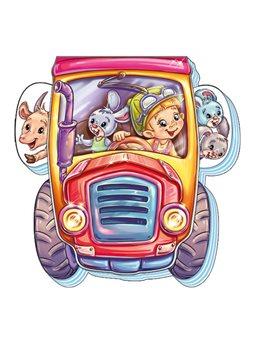 На дороге. Трактор-труженик