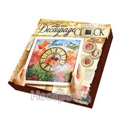 """Комплект креативної творчості """"Decoupage Clock"""" з рамкою (10), DKС-01-01,02,03,04,05"""