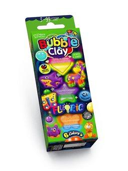 """Креативная творчество """"BUBBLE CLAY"""" FLUORIC """"6 цветов укр. (30) BBC-FL-6-01U, 02U"""