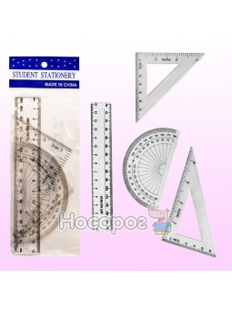 Набір пластикових лінійок, лінійка 15см 703532
