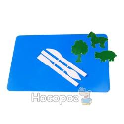 Доска маленькая для пластилина со стеком и набором 2/3 шт ДПК-1/ДПМ-4