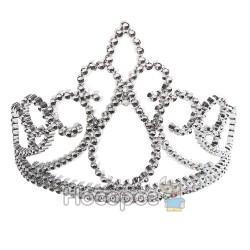 Карнавальна прикраса Корона серебриста 7417
