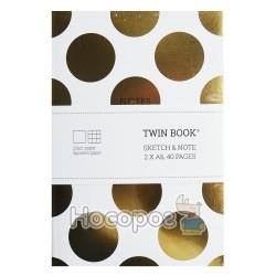 """Блокнот Школярик """"Twinbook"""" А6 40 л."""