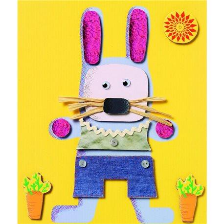 Фото DJECO Художественный комплект Коллаж для самых маленьких 4 фигурки