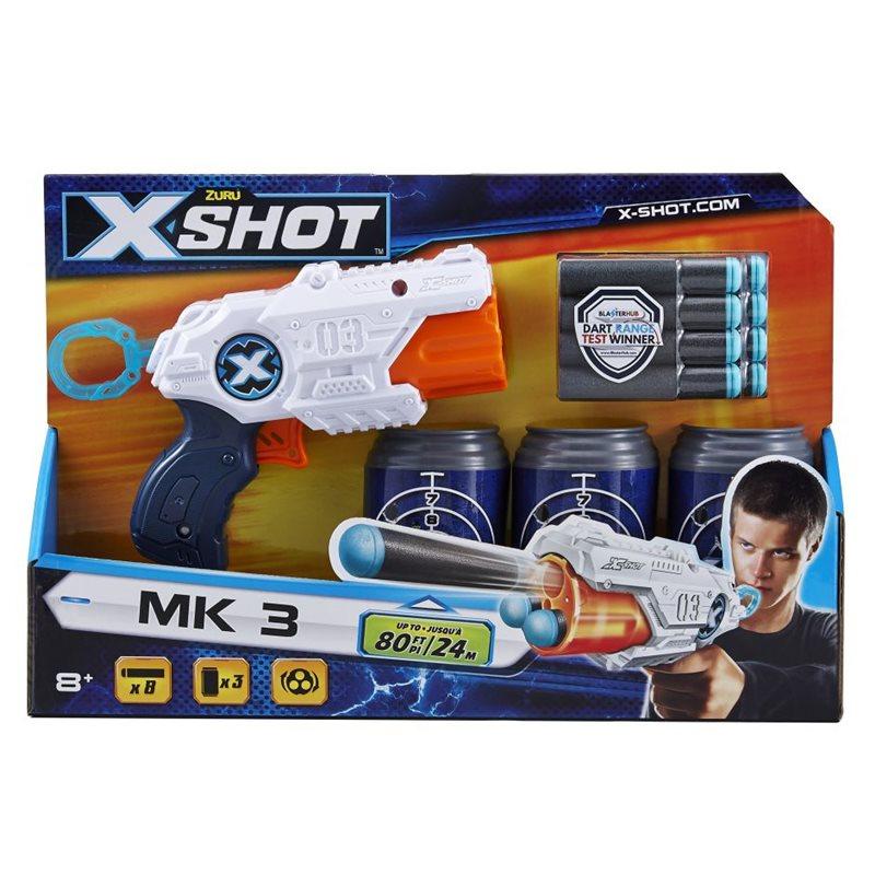 Фото X-Shot Скорострельный бластер EXCEL MK 3 (3 банки, 8 патронов)