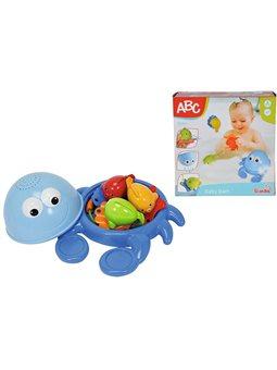 """Іграшка для ванни """"Краб та рибки"""", з вудочкою, 8 шт, 20 см, 12міс.+"""