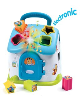 """Игрушка для развития Cotoons """"Дом"""", с сортером, звук. и свет. эффектами, голубая, 12 мес. +"""