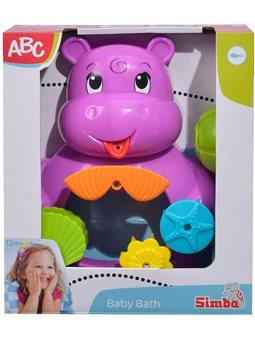 """Іграшка для ванни """"Бегемотик з черепашкою"""" з функцією водяного млина, 22 см, 12міс.+"""