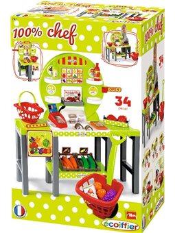 Продуктовый супермаркет Chef с корзинами и питания, 18 мес. +