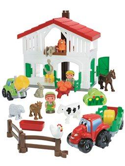"""Конструктор """"Фермерский дом"""", с трактором и погрузчиков, фигурками, 18 мес. +"""