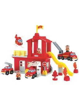 """Конструктор """"Пожарная станция с часовой башней и вертолетом"""" с фигурками, 18 мес. +"""