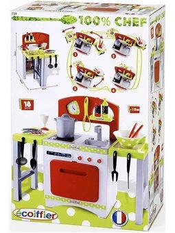 Кухня Chef-Cook с раздвижными столешницами, посудой и аксессуарами., 18мес. +