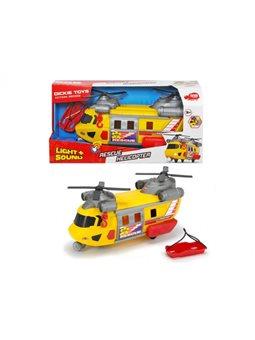 """Функциональный вертолет """"Служба спасения"""" с лебедкой, звук. и свет. эффектами, 30 см, 3"""