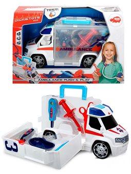 """Автомобіль """"Швидка допомога"""" з набором лікаря, звук. та світл. ефектами, 33 см, 3+"""