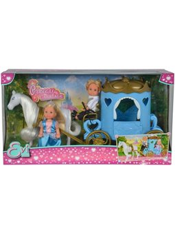 """Кукольный набор Эви и Тимми """"Карета принцессы"""" с лошадью, 3"""