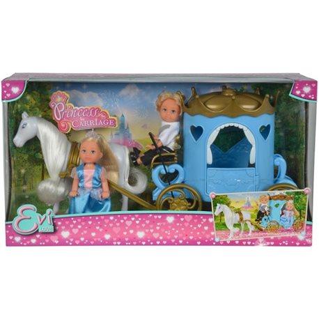 """Фото Кукольный набор Эви и Тимми """"Карета принцессы"""" с лошадью, 3"""