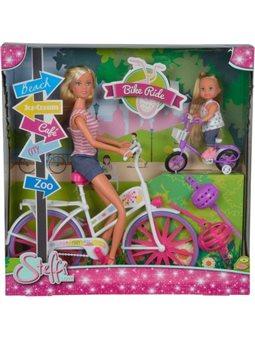 """Кукольный набор Штеффи и Эви """"Прогулка на велосипедах"""", 3"""