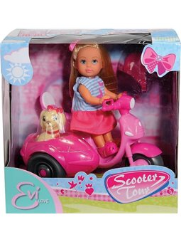 "Кукла Эви ""Прогулка на скутере"" с собачкой, 3"