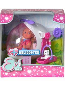 """Кукольный набор Эви """"Спасительный вертолет"""" с собачкой, 3"""