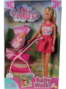 Кукла Штеффи и колыбель с малышом, 2 вида, 3